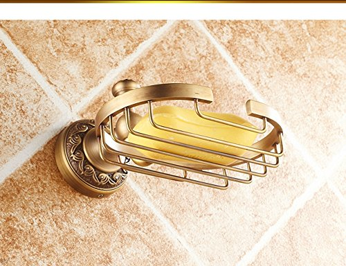 Hyun times All copper antique soap dish soap holder soap net soap dish Continental bathroom hardware pendant thickened Luxury by Hyun times Soap stand (Image #1)