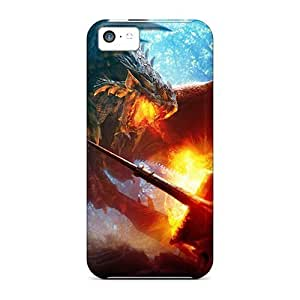 Cute Tpu Phone Case Dragon Vs Warrior Case Cover For Iphone 5c