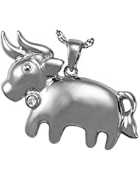 Memorial Gallery 3075SS Zodiac Taurus Pendant Sterling Silver Cremation Pet Jewelry