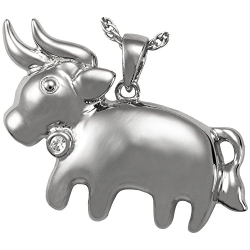 Memorial Gallery 3075SS Zodiac Taurus Pendant Sterling Silver Cremation Pet Jewelry by Memorial Gallery