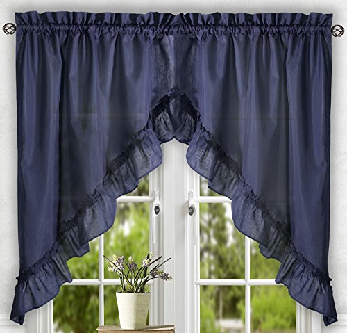 Ellis Curtain Stacey Tailored Tier Pair Curtains 56 Quot X 24
