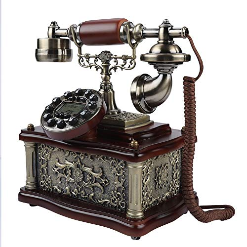 Antique Telephone, Corded Digital Vintage Telephone Classic European Retro Landline Telephone Decorative Rotary Dail with Hanging Headset for Home Hotel Office Decor (Phones That Work Vintage)