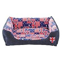 Pet Bed Dog Puppy Cat Soft Cotton Fleece Warm Nest House Mat--Union Jack