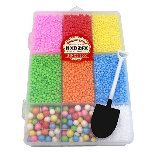 HXDZFX Polystyrene Beads 8 color for Floam Recipe,Handmade DIY (Flame Red Powder)