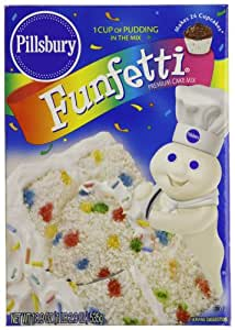 Amazon Com Pillsbury Cake Mix Funfetti 18 9 Ounce Boxes