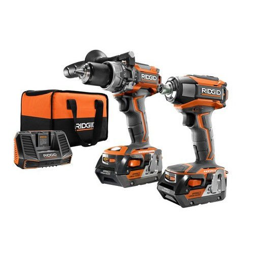 Ridgid ZRR9205 GEN5X Brushless 18-Volt Compact Hammer Drill/Driver and 3-Speed Impact Driver...