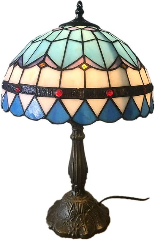 LXJ-LD LáMpara De Mesa,Lámpara de Mesa Estilo Tiffany, iluminación ...