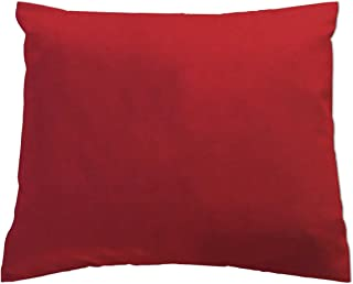 product image for SheetWorld Crib Toddler Pillow Case, 100% Cotton Jersey Knit, Solid Red Jersey Knit, 13 x 17, Made in USA