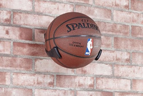 EVIBOOIN Wall Mounted Space Saver Display Basketball Football Soccer Volleyball Sports Ball Holder Claw Black
