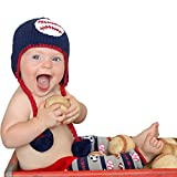 Huggalugs Baby and Toddler Boys Baseball Knit Beanie Hat