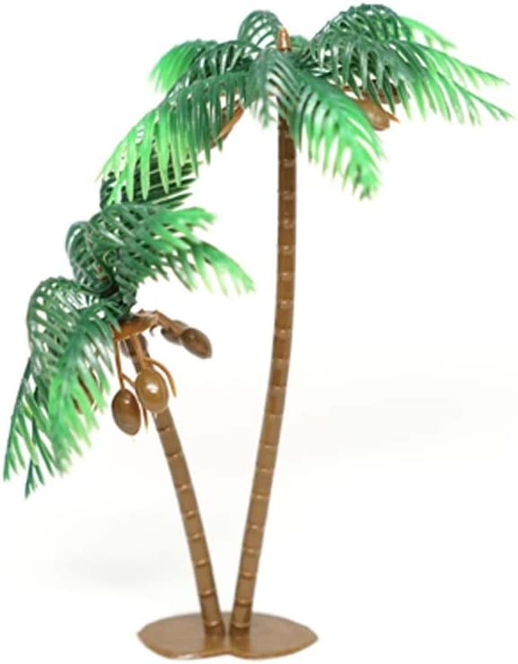 """4 Sets of Large Palm Trees with Coconuts Cake Topper 5"""" Tall Beach Tropical Party Decor Hawaiian Luau Decoration DIY Craft"""