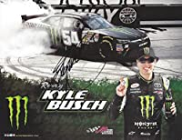 AUTOGRAPHED 2014 Kyle Busch #54 Monster Energy Racing BRISTOL BURNOUT Signed Picture 9X11 Inch NASCAR Promo Hero Card Photo with COA from Trackside Autographs