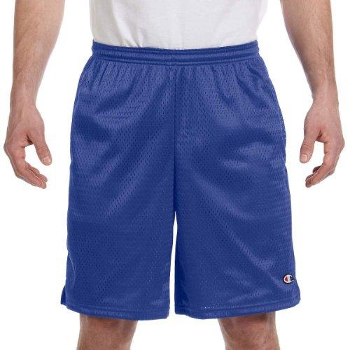Champion Long Mesh Mens Shorts with Pockets, XL-Varsity Yell
