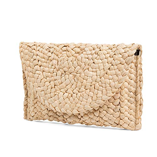 Straw Clutch Handbag, Xmeng Women Straw woven Purse Envelope Bag Wallet Summer Beach Bag for - Woven Handbag Clutch