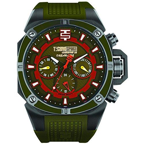 TechnoSport Woman's Chrono Watch - Black / Military Green
