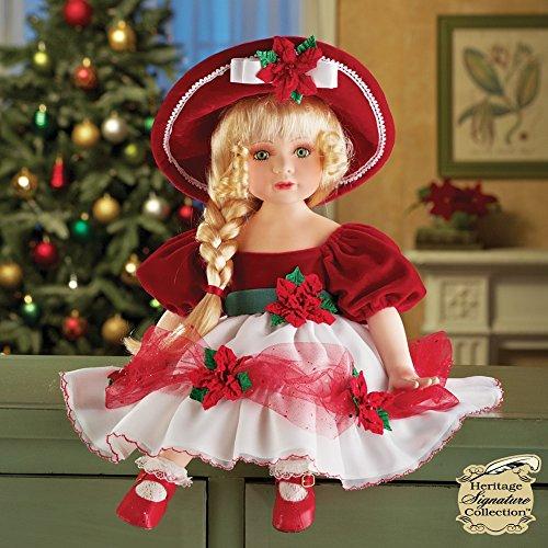 Porcelain Christmas Doll - 7