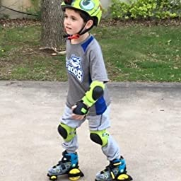 Amazon Com Customer Reviews Fun Roll Boy S Jr Adjustable Roller Skate Small 7 11