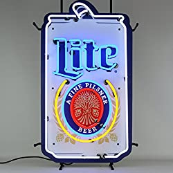 Neonetics 5MCMLC Miller Lite Can Its Miller Time Neon Sign