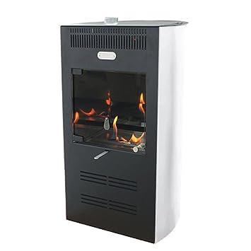 Estufa bioetanol 3000 W Ventilata 3 Velocidad Blanca Calefacción Ruby Elegance: Amazon.es: Hogar
