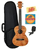 Kala KA-TEM Exotic Mahogany Tenor Ukulele Bundle with Hard Case, Tuner, Instructional DVD, and Austin Bazaar Polishing Cloth