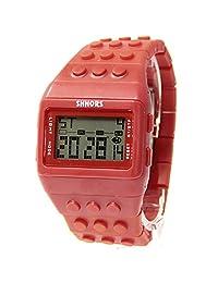 BLACK MAMUT Reloj SHHORS Digital Unisex Bloque de múltiples funciones. Carátula y un extensible de caucho Color Rojo