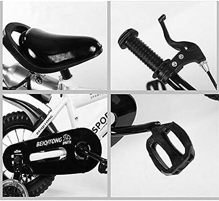 Bicyclehx Bicicleta para niños Bicicletas para niños Bicicletas para bebés de 2 a 11 años Seguro para niños Bicicleta Segura para niños con Canasta con canastas de Lona En 12/14/16/18 Pulgadas: Amazon.es: