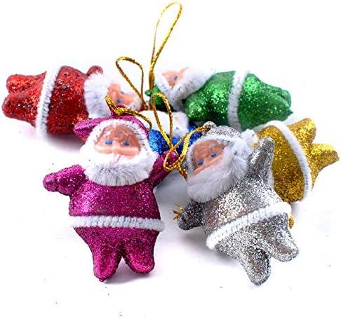 Dayboom 6-teilig Weihnachtsmann Weihnacht sanh/änger Wie Gezeigt Deco Weihnachtsbaum-Schmuck Behang-Set aus Kunststoff Christbaum-Anh/änger Weihnachtsmann Drop Ornamente Dekorationen H/ängen