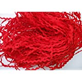Lyracces Wholesale Lots 40yards Mini 5mm 24color Pick Woven Rick Rack Ribbon Ric Rac Trims Scrapbooking Dressmaking (Red #14)