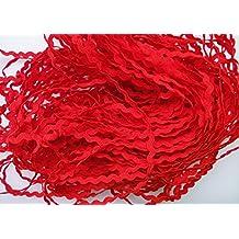 Lyracces Wholesale Lots 40yards Mini 5mm 24color Pick Woven Rick Rack Ribbon Ric Rac Trims Scrapbooking Dressmaking (Red #14)
