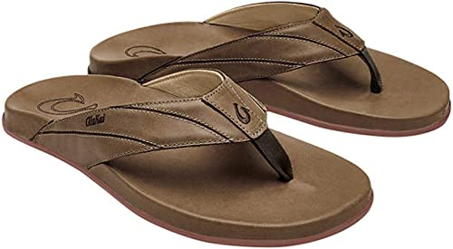 Pick a Size /& Color New 2019 Olukai Nui Mens Sandal Leather Flip Flop