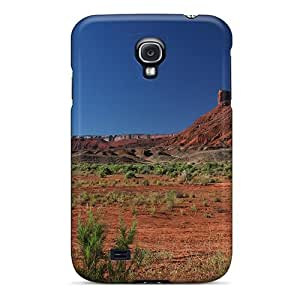 Tpu Case Cover For Galaxy S4 Strong Protect Case - Rock Monument In Canyon Near Aspen Design