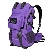 Mountaintop Outdoor Hiking Backpack/Hiking Daypack/Climbing Backpack Sport Bag Camping Backpack with Rain Cover (Purple)
