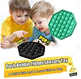 2 Pack Push Bubbles Pop Fidget Sensory Toy,a Loud
