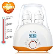 Baby Bottle Warmer & Bottle Sterilizer, 4 in 1 Function with Temperature LCD Monitor, Precise Temperature Control and Design of Leak-Proof, Fit Most Brands Baby Bottles