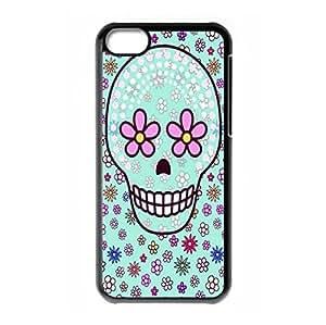 Girls Skull hard back phone case for iPhone 5c
