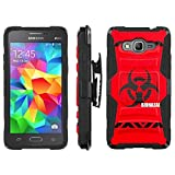 [ArmorXtreme] Case for SAMSUNG GALAXY GRAND PRIME G530 Black/Black [Combat Armor Heavy Duty Case with Holster] - [BioHazard]