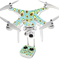 MightySkins Protective Vinyl Skin Decal for DJI Phantom 3 Professional Quadcopter Drone wrap cover sticker skins Blue Avocados