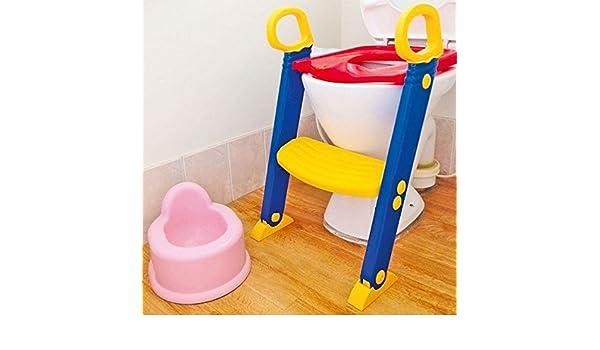 Nueva infantil de orinal baño asiento de inodoro sistema de entrenamiento step Up escalera juego: Amazon.es: Hogar