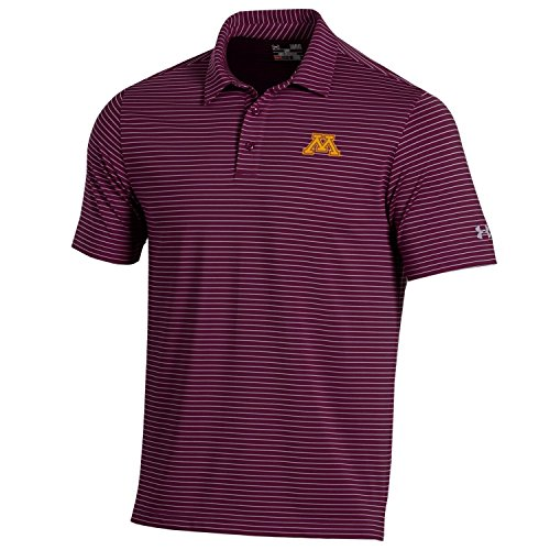 Armor Gear Golf - Under Armour NCAA Minnesota Golden Gophers Men's Playoff Short sleeve Stripe Polo Shirt, X-Large, Maroon