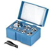 Neewer® 2 Pack 1000 Gram Precision Steel Balance Scale Calibration Weight Kit Set (2*500g, 2*200g, 4*100g, 2*50g, 4*20g,2*10g) for Digital Jewellery Scale, General Laboratory and Educational use