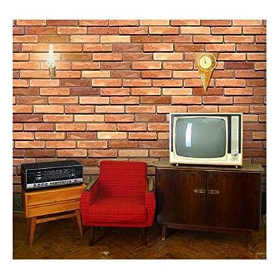 Large Wall Mural - Seamless Brick Wall | Self-Adhesive Vinyl Wallpaper/Removable Modern Decorating Wall Art - 66