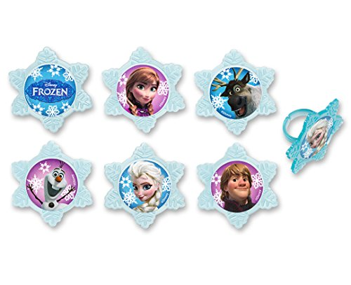 DecoPac Frozen Adventure Friends Cupcake Rings (12 -