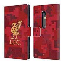 Official Liverpool Football Club Home Red Digital Camouflage Leather Book Wallet Case Cover For Motorola Moto X Play
