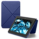 "Amazon Kindle Fire HDX Standing Leather Origami Case (will only fit Kindle Fire HDX 7""), Blue"