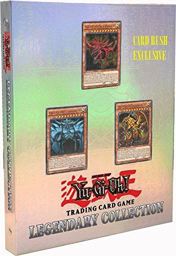 Yu Gi Oh Card Binder - Yugioh PROMO Legendary God Card Set - Gift collection 5 promos + 6 booster packs (Slifer the sky dragon, Obelisk, Winged Dragon of Ra + Legacy Valiant, Dark illusions, Invasion Vengeance packs ++