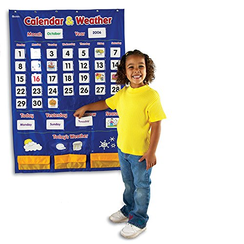 LEARNING RESOURCES CALENDAR AND WEATHER POCKET CHART (Set of 3) by Learning Resources