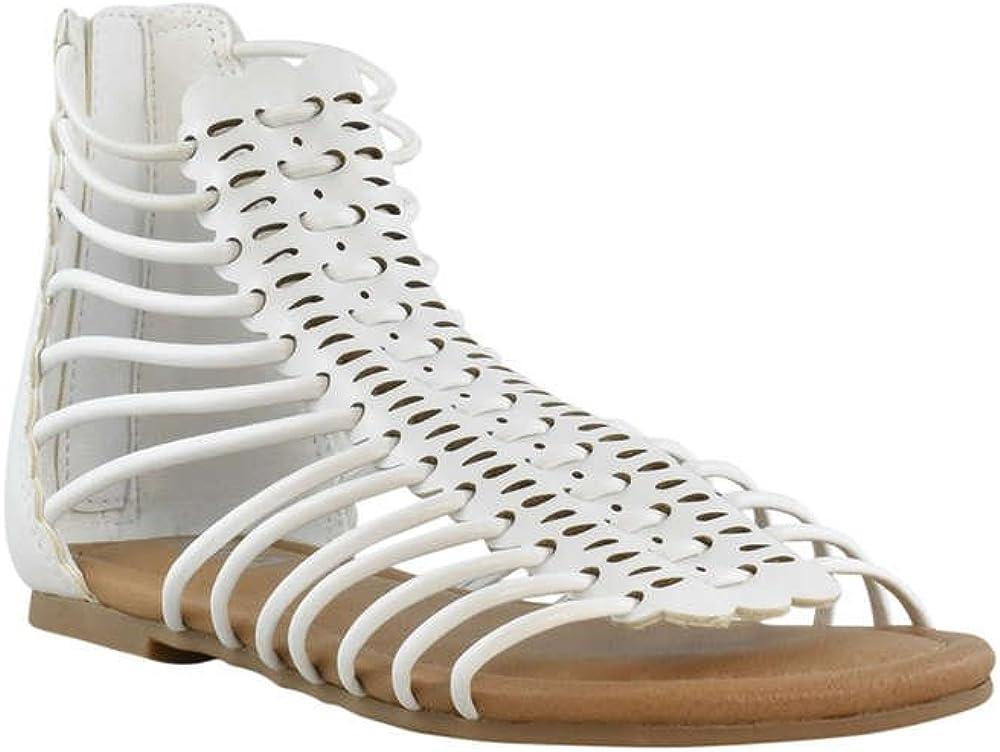 Nanette Lepore Little//Big Girls Studded Gladiator Sandals Shoes