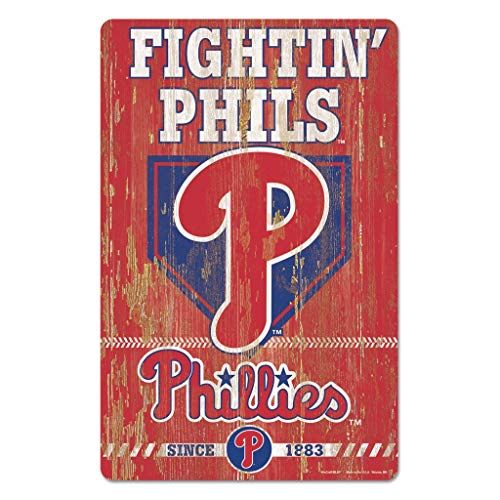 - MLB Philadelphia Phillies 11-By-17-Inch Killen Print Wood Sign