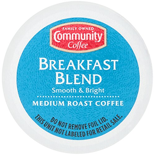 Community Coffee Breakfast Blend Single Serve Pods, Compatible with Keurig 2.0 K Cup Brewers, 54 Count