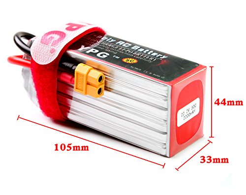 YPG 2200mAh 22.2V 30C 6S GRADE A Li-poly Lipo Battery Hard Case with XT60 Connector For RC Model Car Boat Truck Buggy